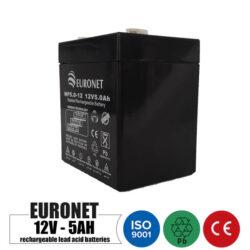 باتری شارژی 12 ولت 5 آمپر EURONET مدل NP5.0-12