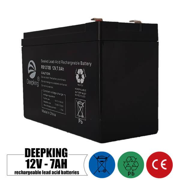 باتری شارژی 12 ولت 7 آمپر DEEPKING