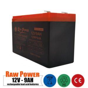 باتری شارژی 12 ولت 9 آمپر Rawpower مدل 12RP9VA