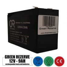 باتری شارژی 12 ولت 9 آمپر GREEN REZERVE مدل 12V9AH