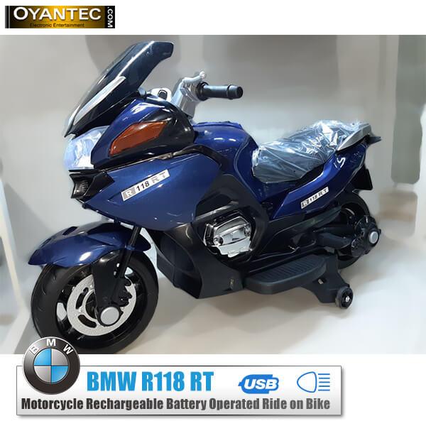 موتور شارژی بی ام و BMW R118-RT رنگ آبی متالیک