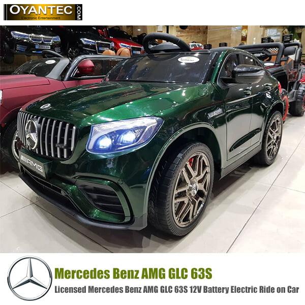ماشین شارژی مرسدس بنز AMG GLC 63S سبز متالیک
