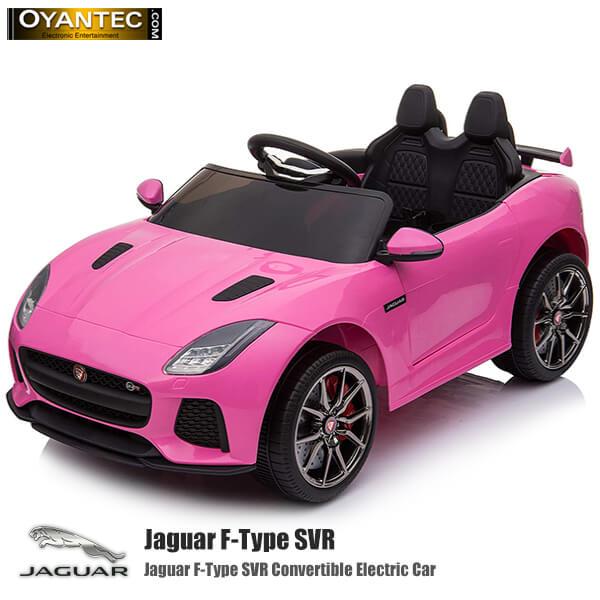 ماشین شارژی جگوار Jaguar F-Type SVR رنگ صورتی