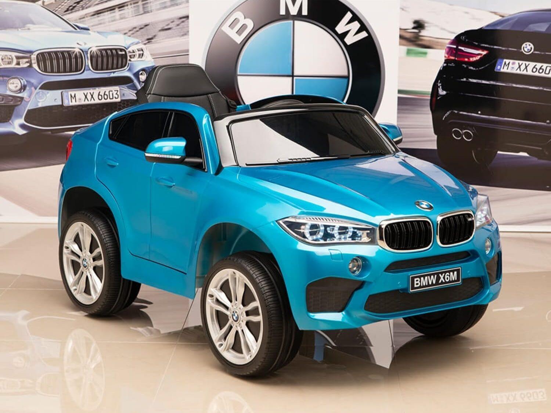 ماشین شارژی BMW X6M رنگ آبی متالیک
