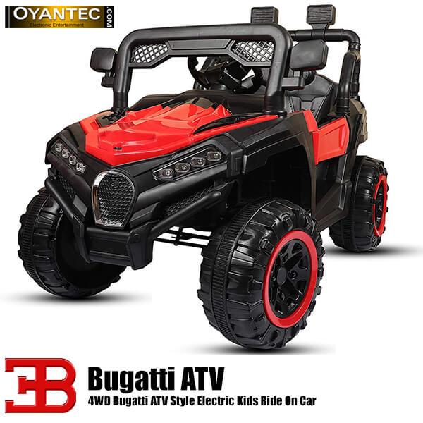 ماشین شارژی بوگاتی ATV چهار موتوره رنگ قرمز