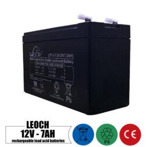 باتری شارژی 12 ولت 7 آمپر LEOCH مدل LP12-7.0