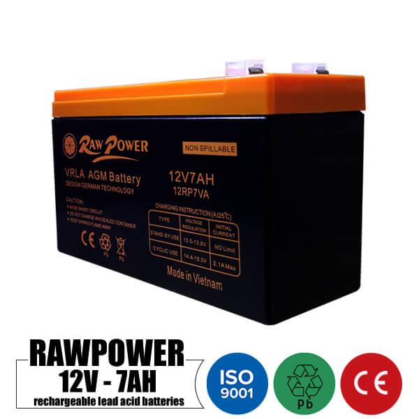 باتری شارژی 12 ولت 7 آمپر RAWPower