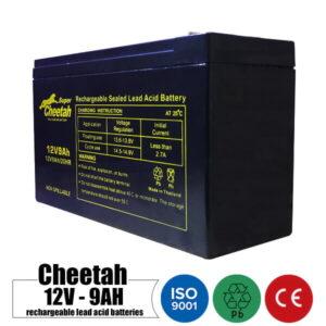 باتری شارژی 12 ولت 9 آمپر CHEETAH مدل 12V9AH