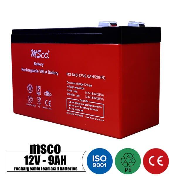 باتری شارژی 12 ولت 9 آمپر MSCO مدل MS-845