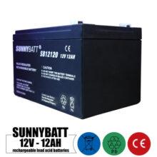 باتری شارژی 12 ولت 12 آمپر SUNNYBATT مدل SB12120