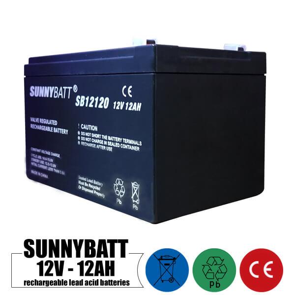باتری شارژی 12 ولت 12 آمپر SUNNYBATT