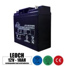 باتری شارژی 12 ولت 18 آمپر LEOCH مدل LP12-18