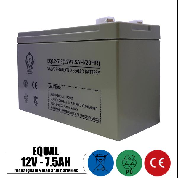 باتری شارژی 12 ولت 7.5 آمپر EQUAL