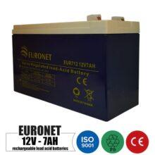 باتری شارژی 12 ولت 7 آمپر EURONET مدل NP7-12