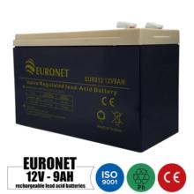 باتری شارژی 12 ولت 9 آمپر EURONET مدل NP9-12