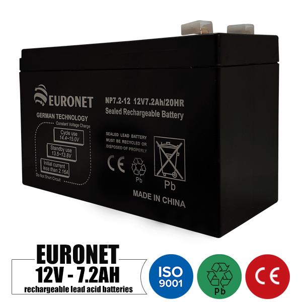 باتری شارژی 12 ولت 7.2 آمپر EURONET