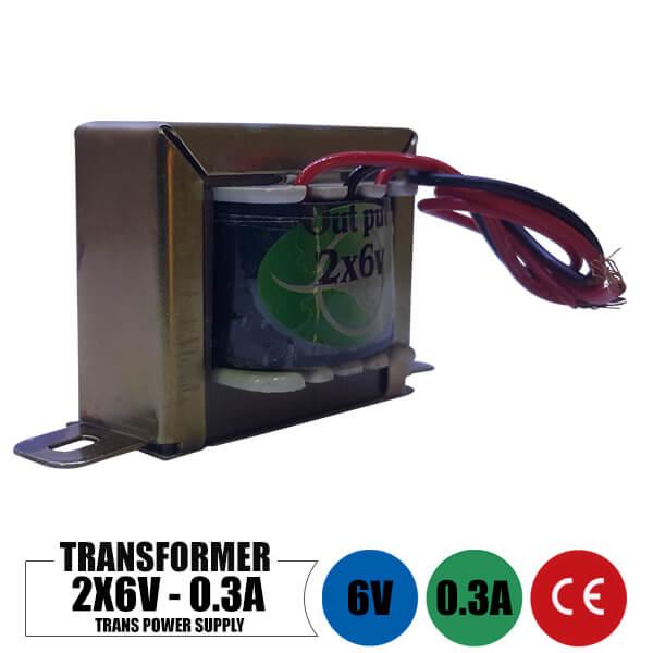 ترانس 6 ولت 0.3 آمپر دوبل خروجی
