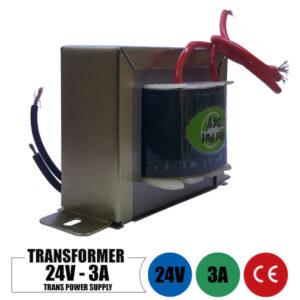 ترانس 24 ولت 3 آمپر تک خروجی