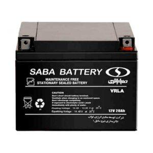 باتری یو پی اس 12 ولت 28 آمپر ساعت صبا باتری