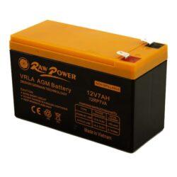 باتری یو پی اس 12 ولت 7 آمپر ساعت Raw power - باتری راو پاور