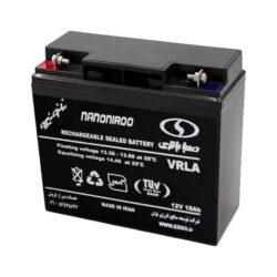 باتری یو پی اس 12 ولت 18 آمپر ساعت صبا باتری