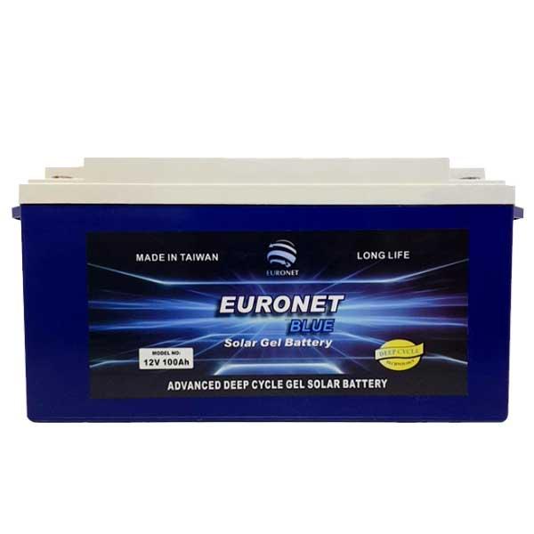 باتری یو پی اس 12 ولت 100 آمپر ساعت EURONET