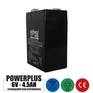 باتری شارژی 6 ولت 4.5 آمپر POWER PLUS مدل PP4.5-6