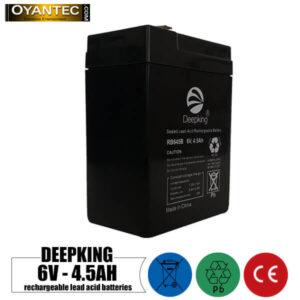 باتری شارژی 6 ولت 4.5 آمپر DEEPKING مدل RB645B