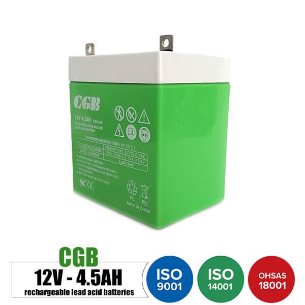 باتری قابل شارژ 12 ولت 4.5 آمپر موتوری CGB مدل CB1245