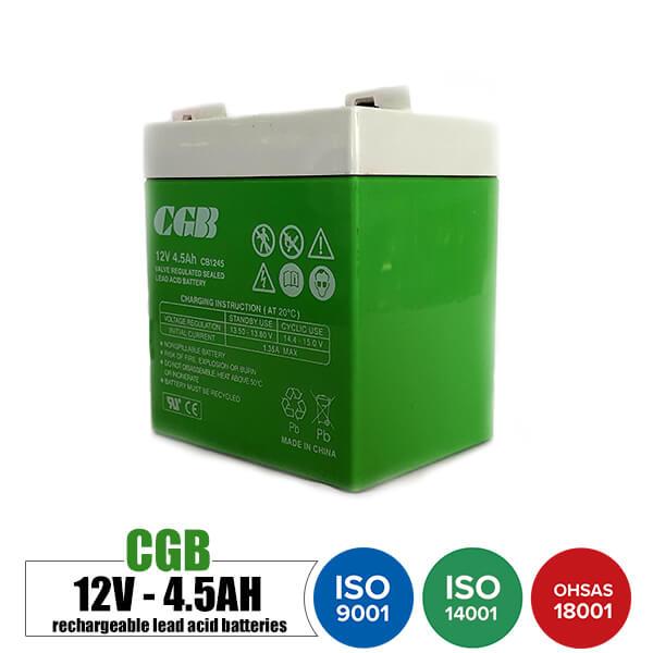 باتری قابل شارژ 12 ولت 4.5 آمپر CGB مدل CB1245