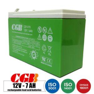 باتری شارژی 12 ولت 7 آمپر CGB مدل CB1270