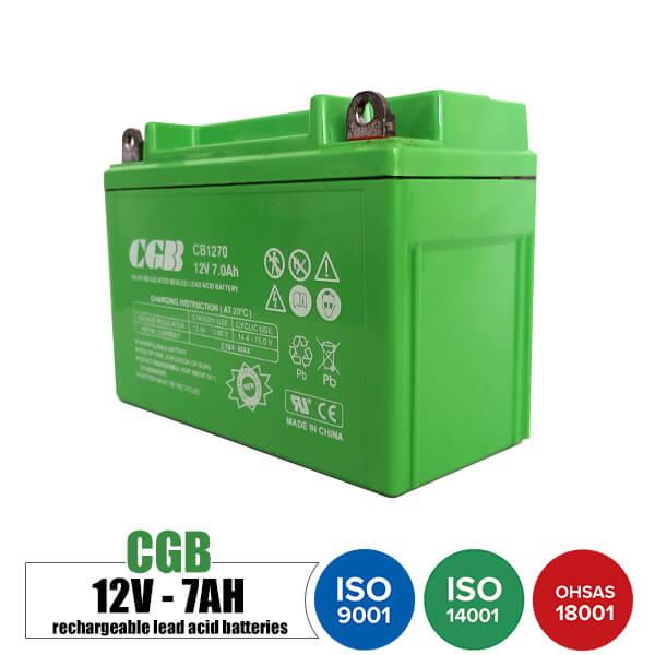 باتری قابل شارژ 12 ولت 7 آمپر موتوری CGB مدل CB1270
