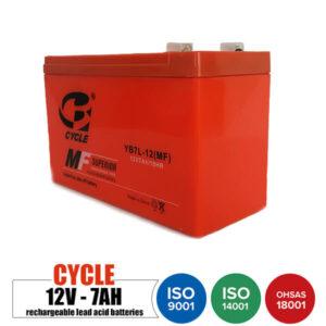 باتری شارژی 12 ولت 7 آمپر CYCLE مدل YB7L-12MF