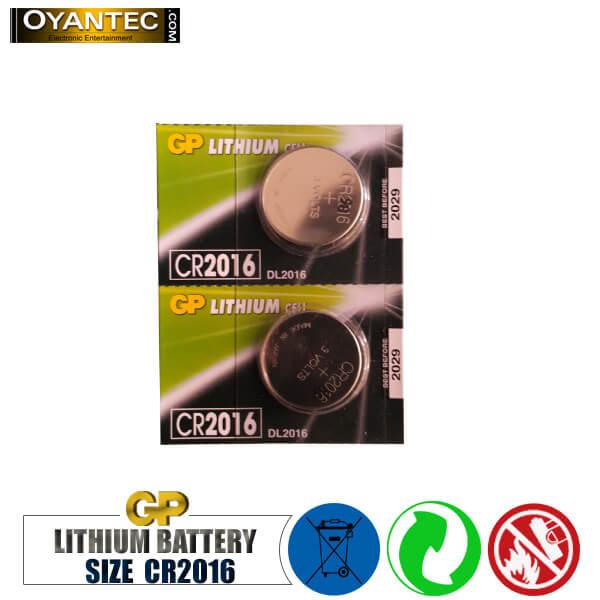 باتری سکه ای 5 عددی لیتیوم CR2016 جی پی