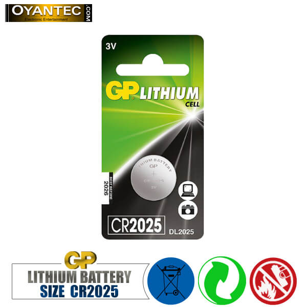 باتری سکه ای لیتیوم CR2025 جی پی
