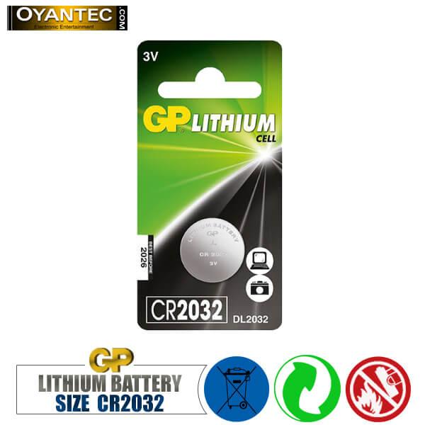 باتری سکه ای لیتیوم CR2032 جی پی