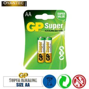 باتری قلمیسوپر الکالاین 2 عددی GP Super Alkaline AA