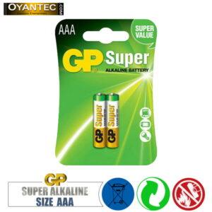 باتری نیم قلمیسوپر الکالاین 10 کارتی GP Super Alkaline AAA