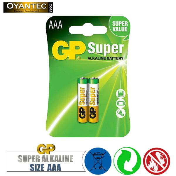 باتری نیم قلمی سوپر الکالاین GP Super Alkaline AAA