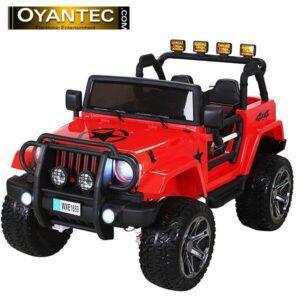 ماشین شارژی دو نفره جیپ R1688 رنگ قرمز