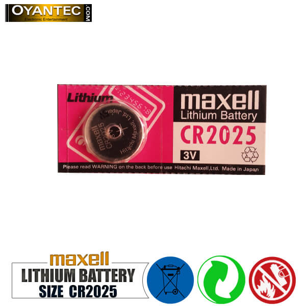 باتری سکه ای مکسل لیتیوم 5 عددی CR2025