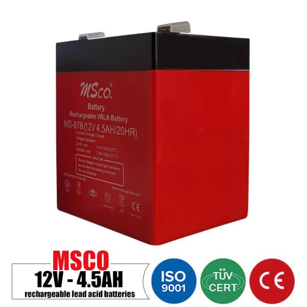 باتری شارژی 12 ولت 4.5 آمپر MSCO مدل MS-878