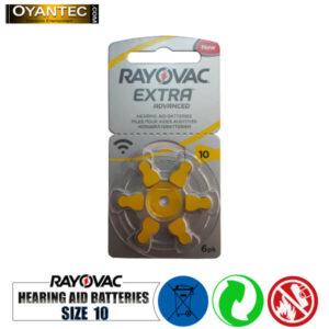 باتری سمعک رایوواک سایز 10 RAYOVAC ده کارتی