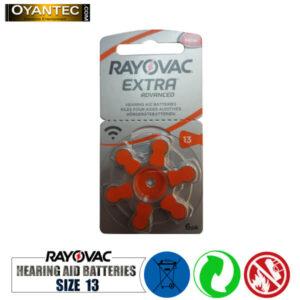 باتری سمعک رایوواک سایز 13 RAYOVAC ده کارتی