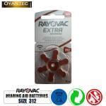 باتری سمعک رایوواک سایز 312 RAYOVAC