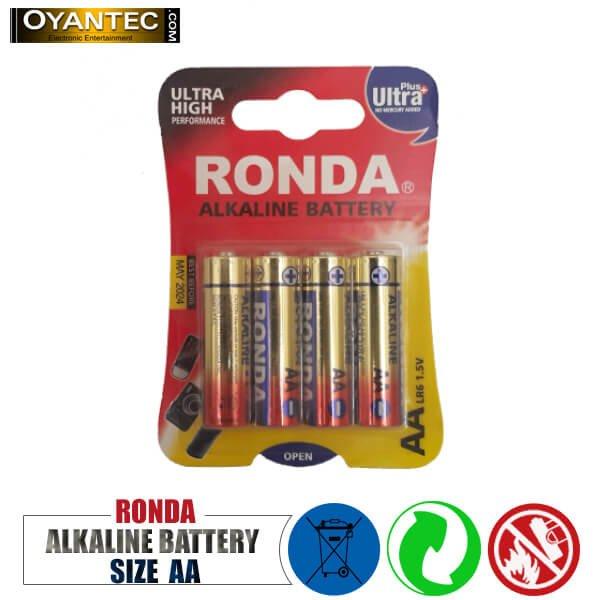 باتری قلمی روندا الکالاین 4 عددی