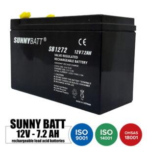 باتری شارژی 12 ولت 7.2 آمپر SUNNYBATT مدل SB1272