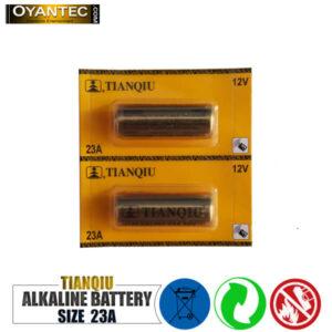 باتری ریموت کنترل 23A تیانکیو الکالاین بسته 5 عددی