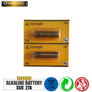 باتری ریموت کنترل 27A تیانکیو الکالاین بسته 5 عددی