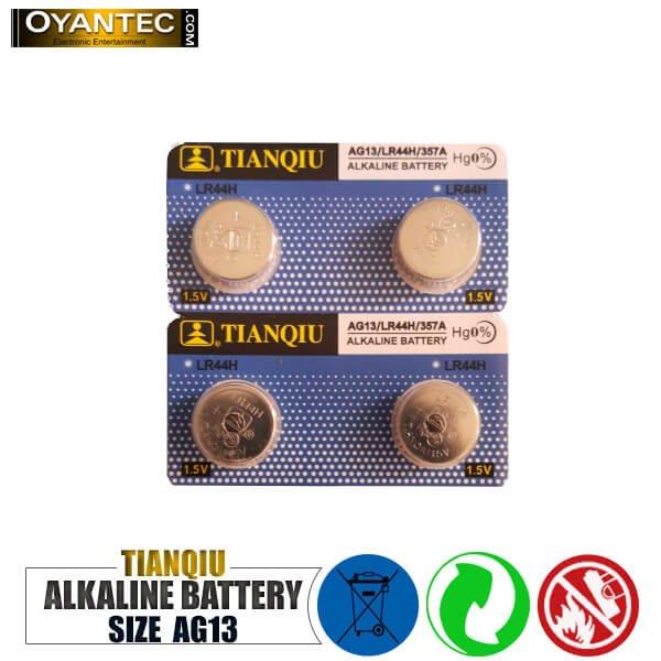 باتری سکه ای تیانکیو AG13-LR44H-357A الکالاین 10 عددی